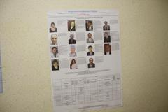 elections in russia. candidates from the authorities marked with special icon - stock photo