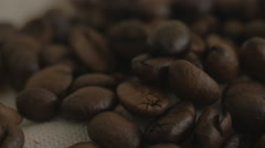 Roasted coffee beans. Close-up. Stock Footage