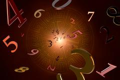 numerology (magical knowledge). - stock illustration