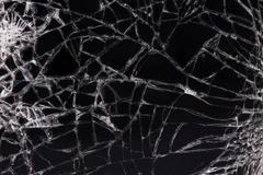 touch screen crack of mobile phone - stock photo
