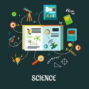 Stock Illustration of vector creative science elements concept