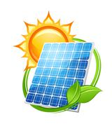 Solar energy and power concept Piirros