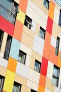 Colorful apartments - stock photo