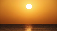 Beauty landscape with sunrise over sea Stock Footage
