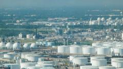 Deer Park Oil Refineries and Chemical Plants in Houston TX Stock Footage