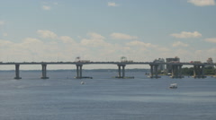 Interstate 95 bridge over st johns Stock Footage