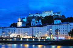 Evening Salzburg, Austria - stock photo