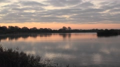 Stock Video Footage of Sunrise Cotswolds Lake