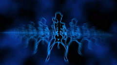 Sexy Female Skeletons VJ dancing background 5 Stock Footage