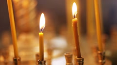 Light Candles Stock Footage
