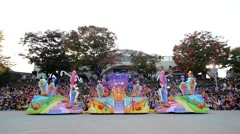 Everland Park, a popular theme park, On October 25, 2014 in South Korea Stock Footage