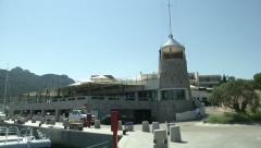 Main building of Yacht Club Costa Smeralda  Stock Footage