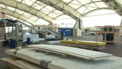 Genoa Boat Show being set up  Stock Footage