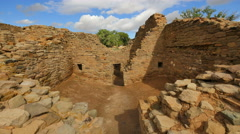 4K Aztec Ruins 07 Time Lapse Kiva Native American Ruins New Mexico USA - stock footage