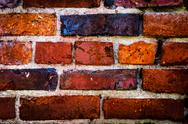Stock Photo of red brick wall background