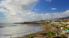 Tenerife, Canary islands, Playa de las Americas coast view, time-lapse. Stock Footage