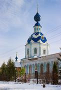 Church assumption blessed virgin mary. pestyaki. russia Stock Photos