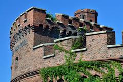 Wrangel tower - fort of Koenigsberg. Kaliningrad, Russia Stock Photos