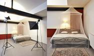 Stock Photo of photo studio with lighting equipment