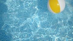 Beach ball in the pool Stock Footage
