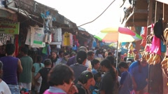 Philippine Market Place Tabuan Early Morning Close up Stock Footage