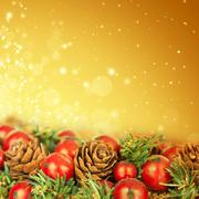 Christmas tree decoration and holiday lights Stock Photos