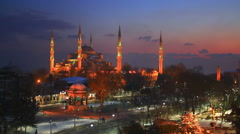 Winter nights in Istanbul Stock Footage