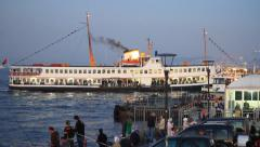 Eventide at Eminonu Pier Stock Footage