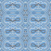 Seamless geometry vintage pattern, blue colour Stock Illustration