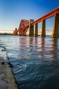The forth road bridge at sunset Stock Photos