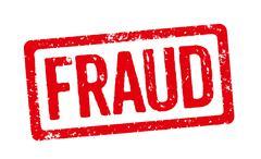 Red stamp - fraud Stock Illustration