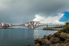 The forth bridge, south queensferry near edinburgh, scotland Stock Photos