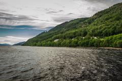 View of loch ness in the summer Stock Photos