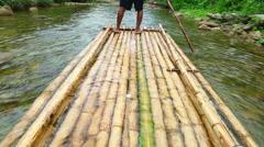 Bamboo rafting - stock footage