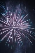 fireworks during the new year celebrations - stock photo