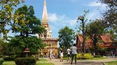 4K Thailand Buddhist Temple of Wat Chalong Phuket - Thailand Tourism Stock Footage