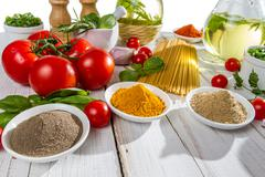 ingredients for a healthy meal - stock photo