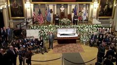 Funeral for Boston Mayer Thomas Menino Stock Footage