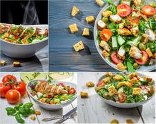 Healthy salad made from fresh vegetables Stock Photos