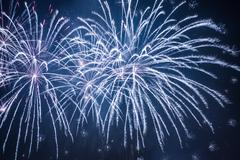 bug fireworks during the celebrations at night - stock photo
