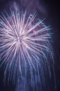 Big fireworks during the celebrations at night Stock Photos