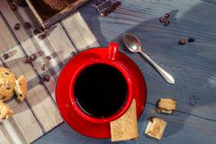 close-up of freshly brewed coffee - stock photo
