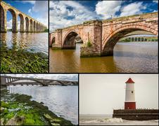 Postcard from berwick-upon-tweed Stock Photos