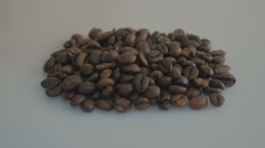 Coffee bean on white  background Stock Footage