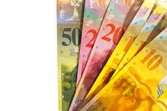 Swiss Francs Currency With Copy Space - stock photo