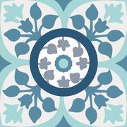 seamless colourful ornament tiles - stock illustration