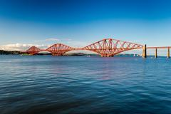 Stock Photo of firth of forth bridge in summer