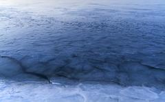Weak ice - stock photo