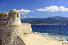 Corsica, france at citadel miollis Stock Photos