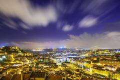 Lisbon, portugal castle Stock Photos